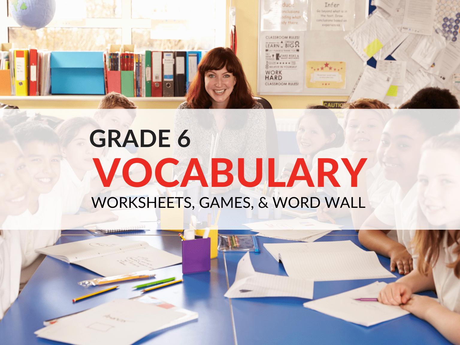 medium resolution of 6th Grade Vocabulary Worksheets