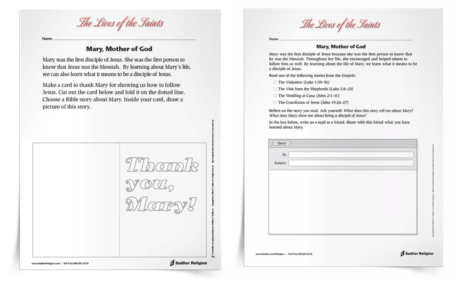 medium resolution of Free Printable Mary