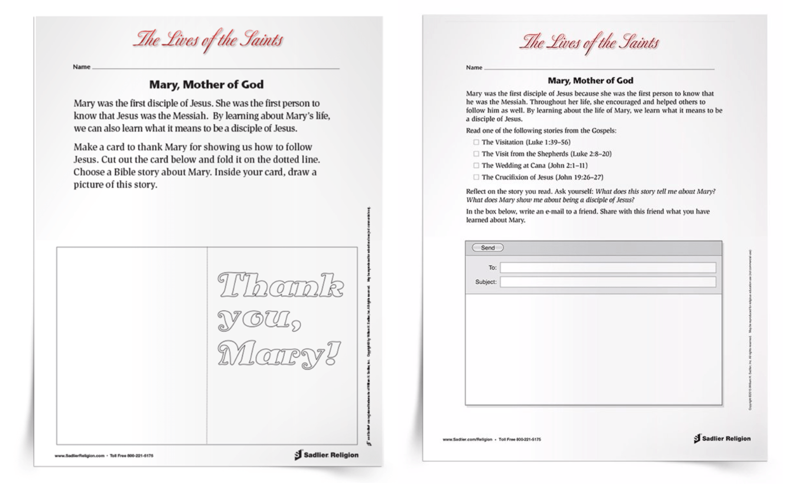 small resolution of Free Printable Mary
