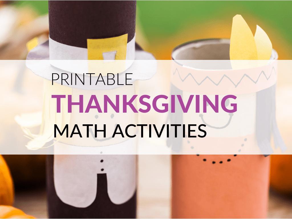 Free Thanksgiving Math Activities [ 768 x 1024 Pixel ]