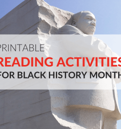 Printable Reading Activities for Black History Month [ 768 x 1024 Pixel ]