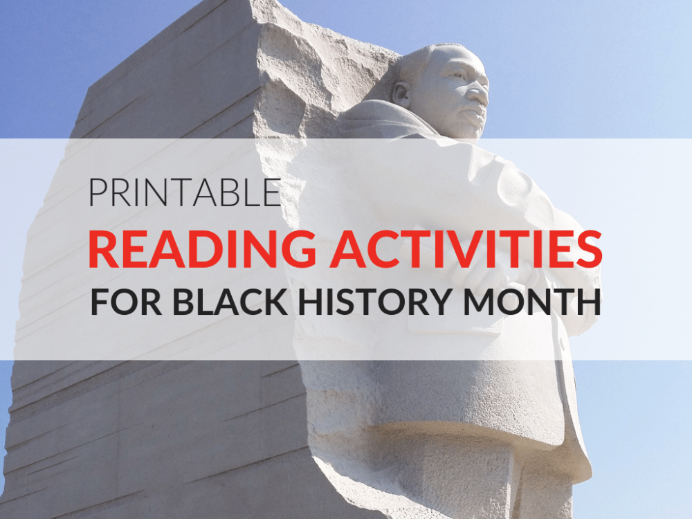 medium resolution of Printable Reading Activities for Black History Month