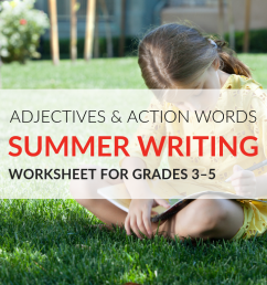 Summer Adjectives and Action Words Worksheet [ 768 x 1024 Pixel ]