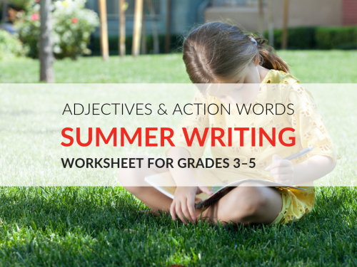 small resolution of Summer Adjectives and Action Words Worksheet