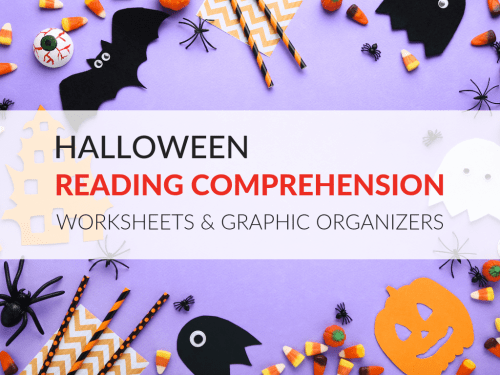 small resolution of Halloween Reading Comprehension Worksheets and Graphic Organizers
