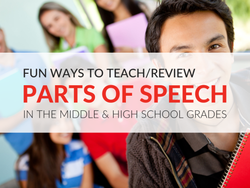 small resolution of Creative Ways to Teach Parts of Speech in Middle School and High School