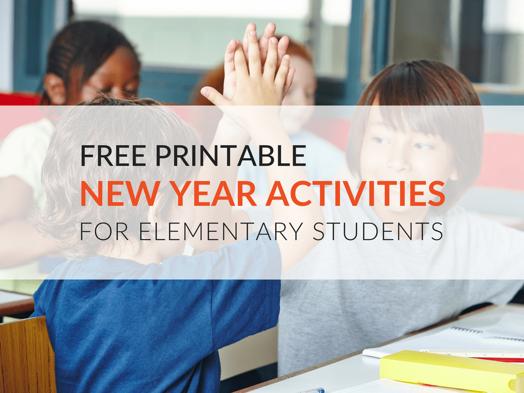 Free Printable New Year Activities For Students Grades 1 5
