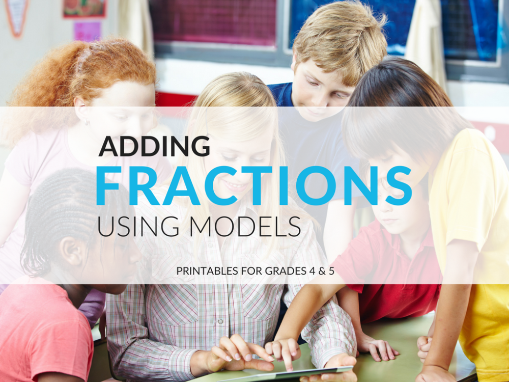 medium resolution of Adding Fractions Using Models Worksheets