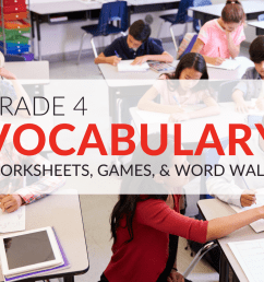 4th Grade Vocabulary Worksheets [ 768 x 1024 Pixel ]