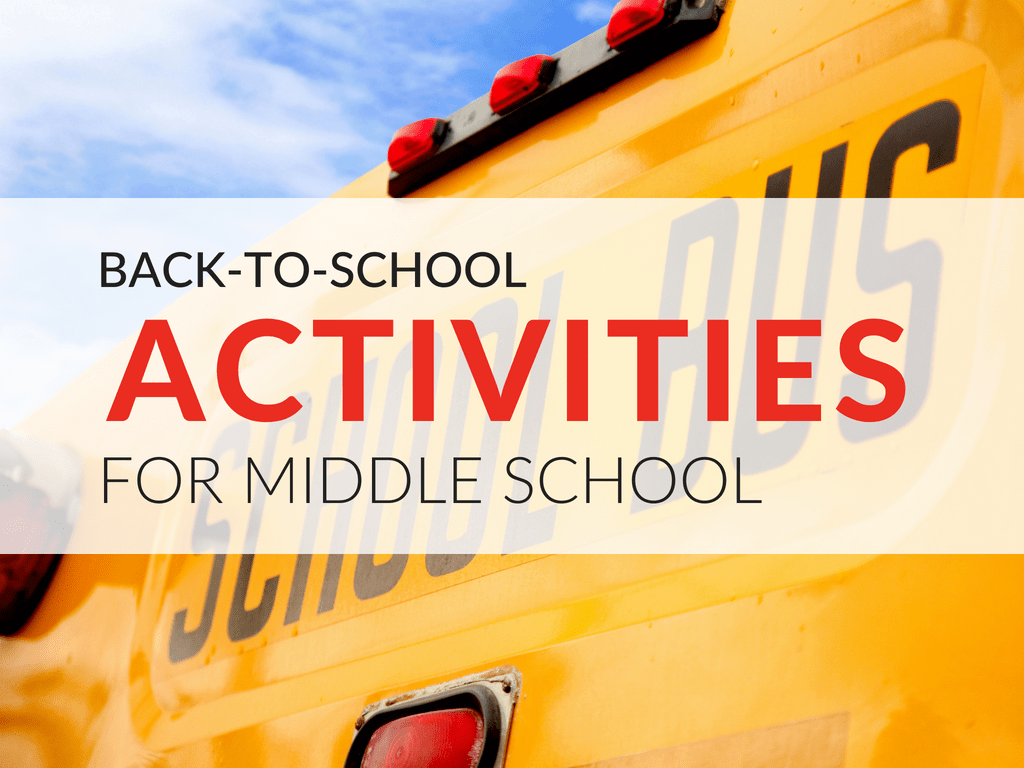 hight resolution of Back-to-School Activities for Middle School