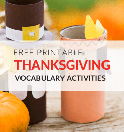 Free Thanksgiving Worksheets That Engage Students in Vocab [ 1152 x 1536 Pixel ]