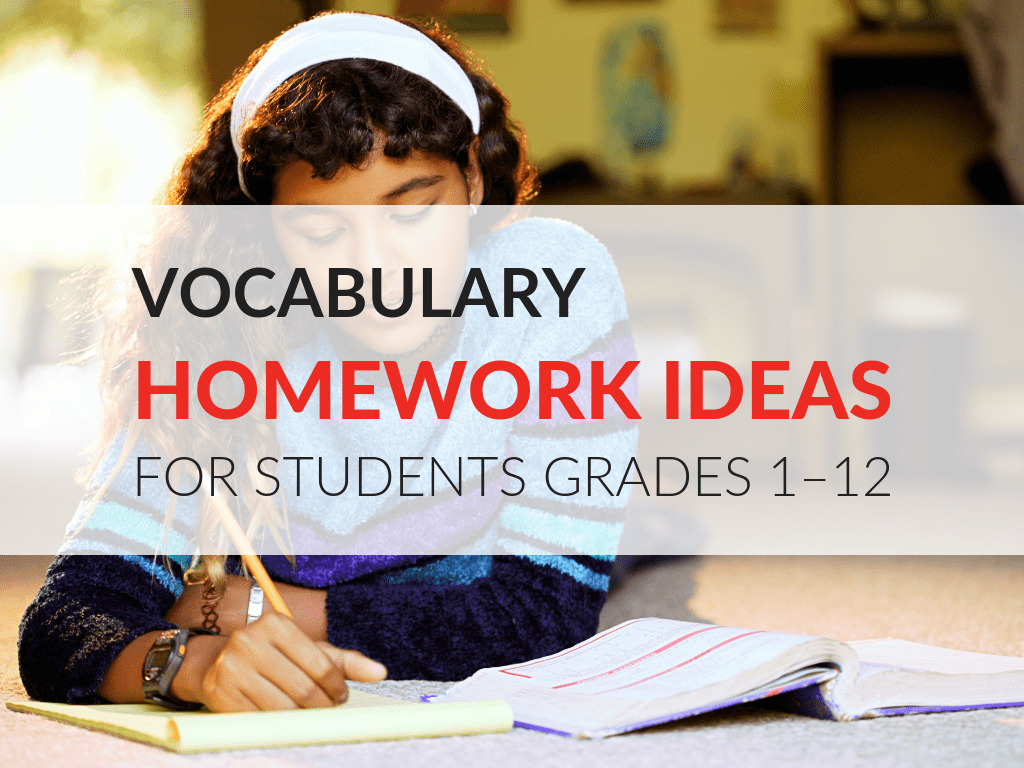 hight resolution of 11 Vocabulary Homework Ideas And How To Motivate Students To Do It!