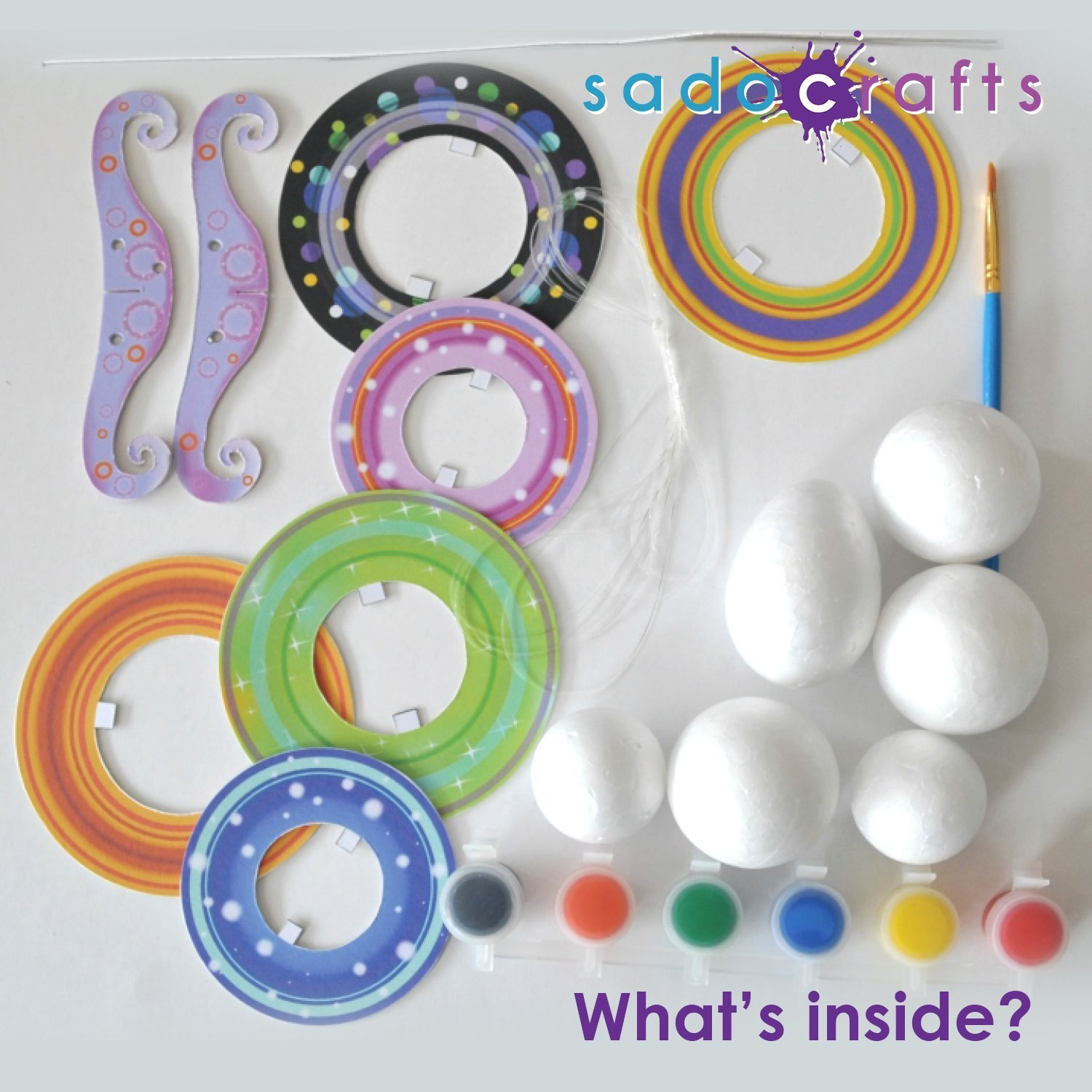 SadoCrafts Create Your Own Planets - Fun Interactive Educational DIY Painting Craft Kit for Kids