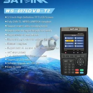 FREE SHIPPING SATLINK WS-6975 DVB-T2 Digital Satellite TV Receiver Satellite Meter Finder discount