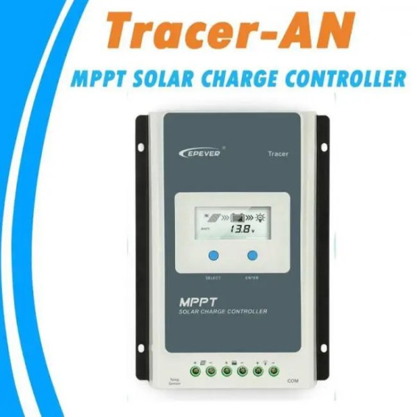 FREE SHIPPING EPever MPPT 40A/30A/20A/10A Solar Charge Controller Black-Light LCD Solar Regulator for 12V 24V Lead Acid Lithium-ion Batteries charge
