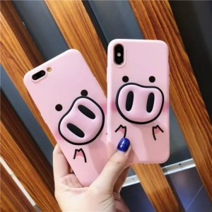 Phone Cases Cute Cartoon Fashion Funny Pig Nose TPU Soft Case For iphone X iphoneXS Max iphoneXR iphone7 iphone8 plus Cartoon
