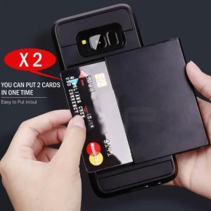 Phone Cases Armor Slide Card Holder Phone Cases For Samsung GalaxyS9 GalaxyS8 Plus GalaxyS7 Samsung Note9 Note8 A7 8