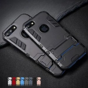 Phone Cases Luxury Stand Armor Phone Holder Case For iPhone7 iPhone8 iPhoneX iPhoneXS Hybrid TPU+Hard armor