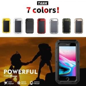 Phone Cases Luxury Armor Metal Aluminum Phone Case for iPhone XS iPhoneMAX iPhoneXR iPhoneX iPhone7 Full Body Cover Shockproof Aluminum