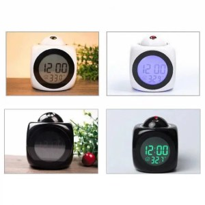 Clock Digital Clock with LED Display Projection Alarm Voice Report Alarm