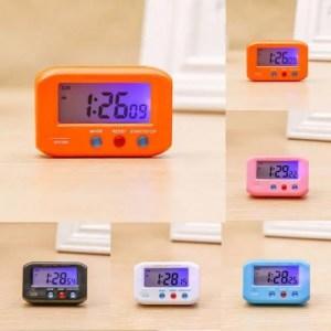 Clock Pocket Sized Digital Electronic Travel Alarm Clock LCD Alarm