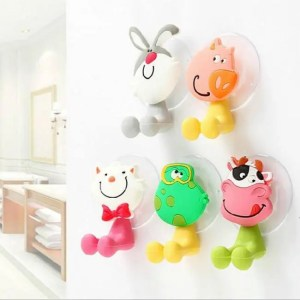 FREE SHIPPING Cartoon Cute Animal Shaped Toothbrush Holder Suction Hooks For Bathroom Accessories Accessories