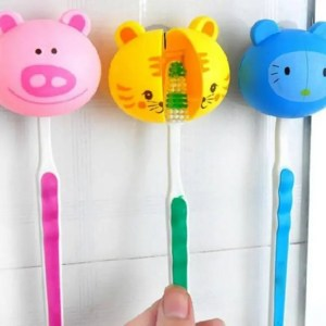 FREE SHIPPING Animal Cute Cartoon Suction Cup for Toothbrush Holder Bathroom Accessories Accessories
