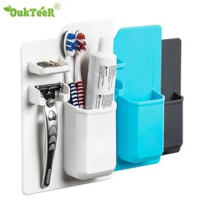FREE SHIPPING Mighty Silicone Toothbrush Toothpaste Holder Storage For Bathroom Accessories