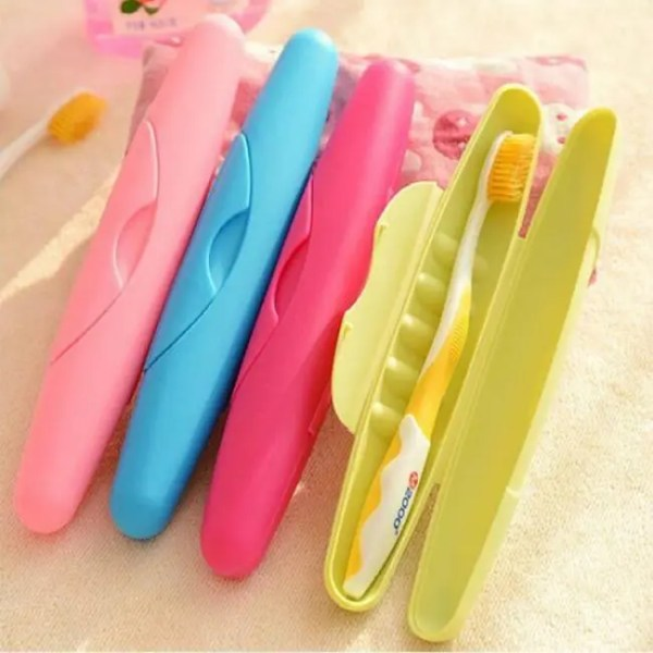 FREE SHIPPING Toothbrush BathRoom Accessories Toothbrush Case Portable Travel Hiking Box Accessories