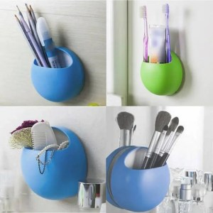 FREE SHIPPING Bathroom Accessories Toothbrush Holder Wall Suction Cups Hooks Bathroom Set Accessories
