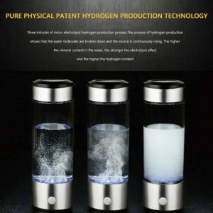 FREE SHIPPING 420ml Hydrogen Water Hydrogen Generator and Filter Rechargeable Portable Water Ionizer Bottle Antioxidan