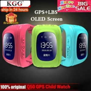 FREE SHIPPING KGG Anti Lost Q50 OLED Child GPS Tracker SOS Smart Watch Anti