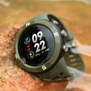 FREE SHIPPING F18 Outdoor GPS Positioning Sports Smartwatch IP68 waterproof compass watch Call Message Reminder Heart Rate BT 4.2 Smart Watch Compass
