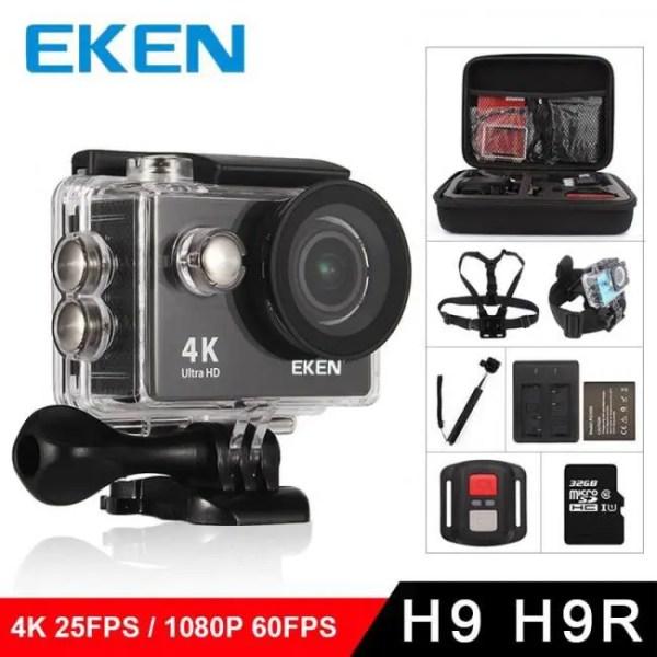 Electronic Gadgets EKEN H9R / H9 Action Camera Ultra HD 4K / 25fps WiFi 2.0″ 170D Underwater Waterproof Helmet Video Recording Cameras Sport Cam 170D