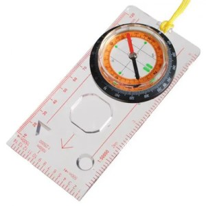 FREE SHIPPING OC-1 Orienteering Baseplate Map Compass Scale Ruler with Lanyard angle