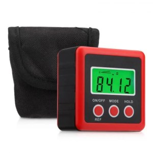 FREE SHIPPING Red Precision Digital Protractor Inclinometer with Magnet Base accurate