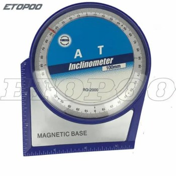 FREE SHIPPING PG2000 Professional Magnetic Protractor Tilt Level Angle Finder inclinometer with Magnetic Base accurate