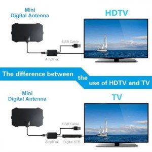 FREE SHIPPING 120 Miles TV Antena 1080P Digital HDTV Indoor TV With Amplifier Signal Booster Cable