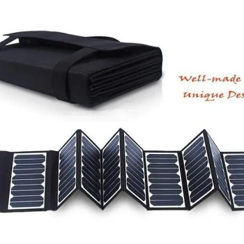 FREE SHIPPING 60W 5V/18V folding Solar Panel Charger For Mobile Phones / Power Bank / Laptops / 12V Battery Charger New Sun power 12V