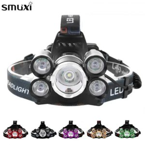 FREE SHIPPING 50k Lumens T6 LED Head Lamp Fishing Flashlight Torch backpack