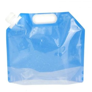 FREE SHIPPING 5L Folding Water Storage Collapsible Lifting Bag Portable Blue