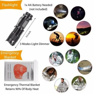 FREE SHIPPING 12 in 1 Outdoor survival emergency kit for your bug-out bag or car angle