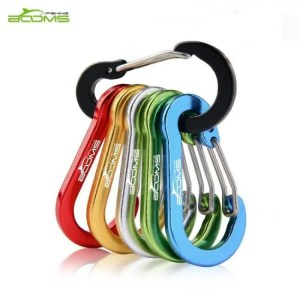 FREE SHIPPING Booms Fishing CC1 6Pcs Aluminum Alloy Carabiner Keychain Outdoor Camping Climbing Snap Clip Lock Buckle Hook Fishing Tool 6Color Alloy