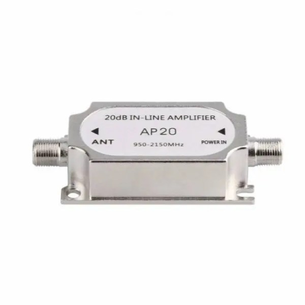 FREE SHIPPING Satellite Signal 20dB In-line Amplifier Booster 20dB