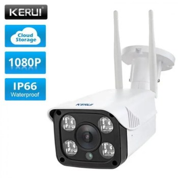 FREE SHIPPING KERUI Full HD 1080P Waterproof WiFi IP Camera Surveillance Outdoor Camera Security Night Vision Cloud Storage CCTV Camera 1080p