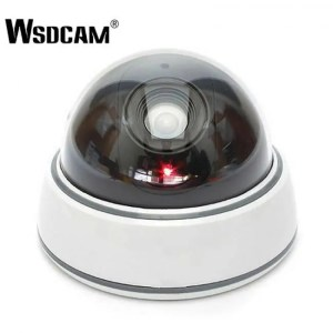 FREE SHIPPING Home Family Outdoor CCTV Camera Fake Dummy Camera Surveillance Security Dome Mini Dummy Camera with LED Light White camera