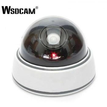 FREE SHIPPING Home Family Outdoor CCTV Camera Fake Dummy Camera Surveillance Security Dome Mini Dummy Camera with LED Light White camera