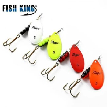 FREE SHIPPING Mepps Spinner Bait  0#-5# 4 Color With Mustad Treble Hooks 35647-BR Artificial Bait Fishing Lure 2019