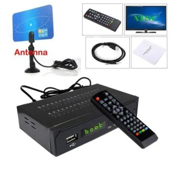 FREE SHIPPING Terrestrial ATSC Digital TV Converter BOX 1080P HDMI HDTV Analog 3/4CH Clear QAM Cable Receiver TV Tuner Indoor VHF UHF Antenna 1080p