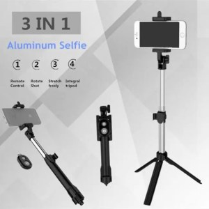 Accessories FGHGF T1 Tripod Monopod Selfie Stick Bluetooth With Button Pau De Palo selfie stick for iphone 6 7 8 plus Android stick Free shipping